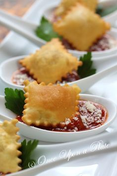 Crispy Ravioli with Marinara Sauce This is a direct link to the recipe. Part of trio of appetizer.