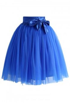 Amore Tulle Skirt in Sapphire Blue - Bottoms - Retro, Indie and Unique Fashion