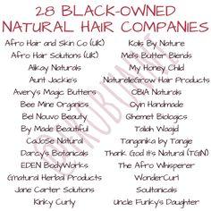 28 black-owned natural hair companies