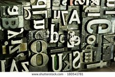 Metal Type Printing Press Typeset Obsolete Typography Text Letter Tools