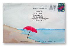 Mail art. Very calming.
