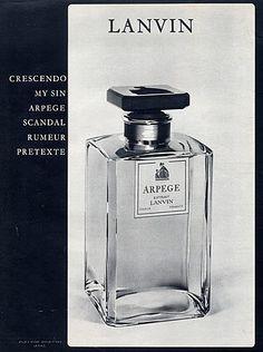 Lanvin (Perfumes) 1963 Arpège Vintage advert Perfumes   Hprints.com