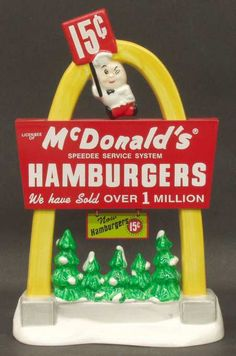 Dept 56 McDonalds Lights Up the Night