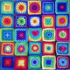 Rengarenk Tığ İşi Motifler - http://m-visible.com/rengarenk-tig-isi-motifler.html