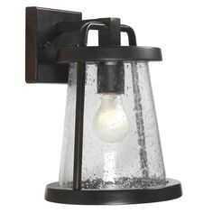 Home Decorators Collection Gale 1-Light Black Outdoor Wall Lantern-HDP11973 - The Home Depot