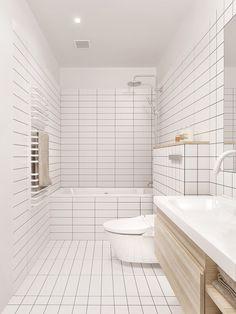 white bathroom - Minimalist apartment in Vladivostok, Russia   INT2 Architecture