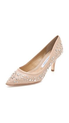 Diane von Furstenberg Antion Studded Pumps.love these. And the smaller heel compliments my short boyfriend lol