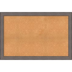 Framed Cork Board, Choose Your Custom Size, Country Barnwood Wood (64 x 36-inch), Brown