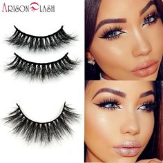 9e17304acca 1/ps 3D Mink False Eyelashes 100% Real Mink fur Handmade Crossing Lashes  Natural Long D006 Full Strip Lashes Thick Arison Lashes