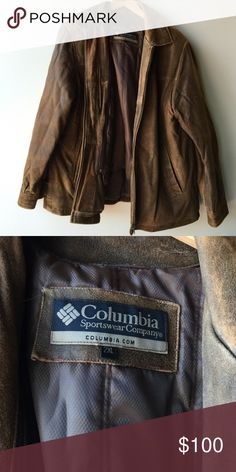 Leather Columbia coat with removable liner Leather Columbia coat with removable liner Columbia Jackets & Coats