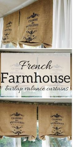 I really love the look of these french country style curtains. They are fantastic in any french farmhouse decor. I really love the look of these french country style curtains. They are fantastic in any french farmhouse decor. Farmhouse Style Curtains, Country Style Curtains, French Farmhouse Decor, French Country Kitchens, French Country Bedrooms, Farmhouse Windows, French Country House, French Country Decorating, Country Bathrooms
