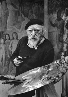 The painter Augustus John in his studio. Photographed by Alfred Eisenstaedt.