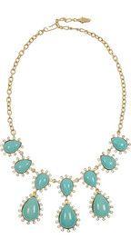 Kenneth Jay Lane22-karat gold-plated crystal necklace