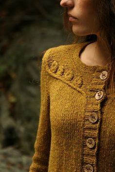 Twigs and Willows by Alana Dakos cardigan knitting pattern on Ravelry for Willow Pattern, Fashion Mode, Sweater Weather, Pulls, Knitting Projects, Knit Cardigan, Mustard Cardigan, Hand Knitting, Knitwear