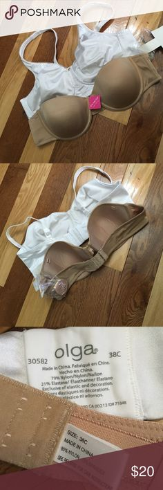 Two New Bras Sz 38 C The Olga is a full soft coverage no wire. NWOT. The Silhouettes is a NWT strapless with the straps. Intimates & Sleepwear Bras