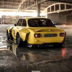 Custom Muscle Cars, Custom Cars, Retro Cars, Vintage Cars, Alfa Romeo Cars, Car Tuning, Modified Cars, Amazing Cars, Fast Cars