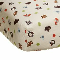 Carter's Forest Friends Crib Sheet. Brandon just got these for Isaac. I love them!! <3