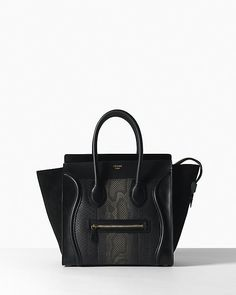 Luggage Mini in Python Black