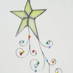 Christmas Star Stained Glass Holiday Ornament or by FiveSparrows