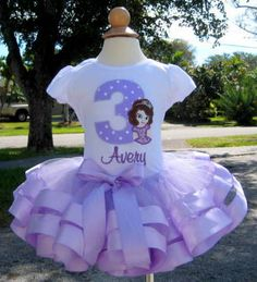Princess Sofia The First Double Ribbon Party Tutu Set..Mia's 2nd Birthday???