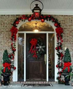 Beautiful Christmas door