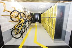 saving corporate cycle parking and office lockers for riding to work., Space saving corporate cycle parking and office lockers for riding to work., Space saving corporate cycle parking and office lockers for riding to work.