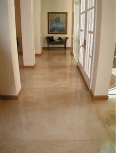 Elegant Skim Coat Concrete Basement Floor