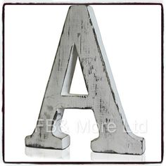 """Each letter is hand crafted using sustainable wood. """"Amazing shabby chic letter - love it! """" Very shabby chic """". They will even look good on wedding tables, spelling out """"Mr & Mrs"""" or """"Just Married"""". Shabby Chic Interiors, Shabby Chic Homes, Shabby Chic Style, Shabby Chic Decor, Vintage Decor, Shabby Chic Letters, Rustic Letters, Wooden Letters, 3d Letters"""