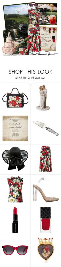 """""""A Private Vineyard in Italy ..."""" by krusie ❤ liked on Polyvore featuring Dolce&Gabbana, Willow Tree, Waterford, YEEZY Season 2, Smashbox, Gucci and Alexander McQueen"""