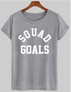 Squad Goals Women's Casual T-Shirt Cheer Shirts, Vinyl Shirts, Funny Shirts, Squad Goals Shirts, Design Squad, Dope Shirt, Shirts With Sayings, Quote Shirts, College Hoodies