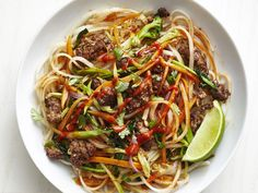 Beef Satay Noodles recipe from Food Network Kitchen via Food Network