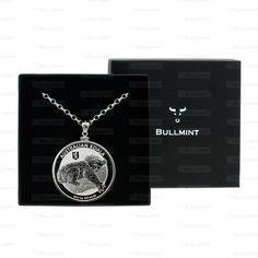 2012 Australian Silver Koala with Berlin Bear Privy Mark 1oz Pendant- COIN EDGE in a Bullmint display box