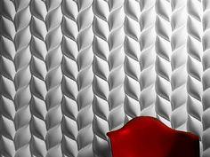 3D Wall Panel TRECCIA by 3D Surface | design Jacopo Cecchi, Romano Zenoni