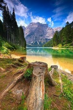 - Lake Braies - Dolomiti - Italy - South Tyrol Trentino-Alto Adige Dolomiti - Italy - Italy Italy, Italy Travel, Lakes, Ponds
