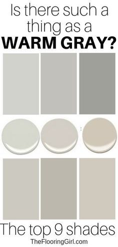 Is there such a thing as warm gray? Here are the top 9 warm gray and greiges. Is there such a thing as warm gray? Here are the top 9 warm gray and greiges. Greige Paint Colors, Neutral Paint Colors, Room Paint Colors, Interior Paint Colors, Paint Colors For Home, House Colors, Warm Grey Paint, Gray Beige Paint, Color Palette Gray