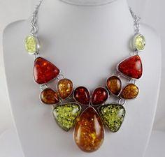 Precious-Modernist-amber-Handmade-Gemstone-Jewellery-Necklace