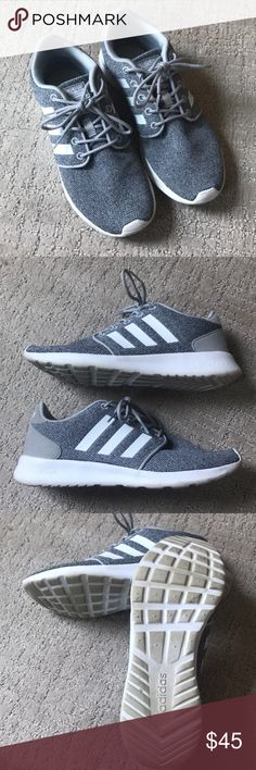 new style ee789 3da47 Gray Adidas Neo size 8 Size 8 gray and white Adidas Neo with cloud foam  memory