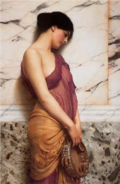 The Tambourine Girl - John William Godward
