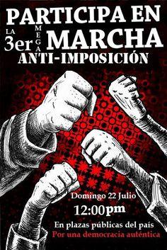 Tercera marcha antiEPN el 22 de Julio