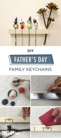 Does your busy dad lose his key all the time? With this cute keyholder and customized keychain he will know exactly where his keys are, and exactly where they belong- never to lose them again. Get ready to follow these easy DIY steps and surprise your dad this Father's Day with a special, made with love, gift.