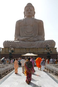 Towards Buddha from, Bodhagaya, Bihar, India .Buddha was born in Nepal. Goa India, The Places Youll Go, Places To Visit, Taj Mahal, Amazing India, Largest Countries, Place Of Worship, India Travel, Statues