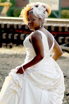 Natural hair bride>>>love this head piece Wedding Attire, Wedding Bride, Wedding Gowns, Wedding Wishes, Purple Wedding, Wedding Things, Dream Wedding, Black Queen, Backyard Wedding Dresses