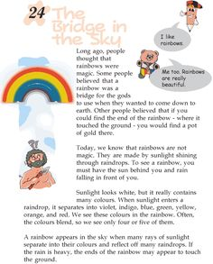 Grade 2 Reading Lesson 24 Nonfiction - The Bridge In The Sky Stories With Moral Lessons, Moral Stories For Kids, English Lessons For Kids, Short Stories, Reading Comprehension For Kids, Comprehension Worksheets, Reading Worksheets, Teaching Reading, English Writing Skills