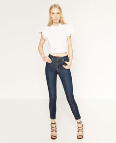 Image 1 of BODYFRAME HIGH RISE TROUSERS from Zara