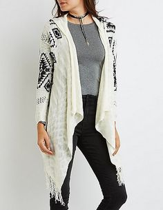 Aztec Hooded Cascade Cardigan for only $14!