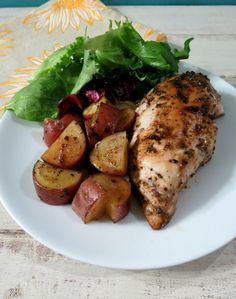 Balsamic Glazed Chicken and Roasted Potatoes - Juicy, tender chicken and potatoes marinated in a balsamic vinaigrette and baked to perfection.