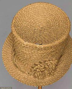 1810-1820 Braided chip straw hat