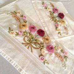 SEVİLAY ÇALIŞKAN @ribbon.design on Instagram photo October 9 Romantic, Embroidery, Ribbon Design, Handmade, Beautiful, Decor, Bath Towels & Washcloths, Satin Flowers, Beautiful Things