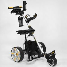 """The Bat Caddy Golf Cart with hand-held remote control provides the """"Pro Golfer's Experience"""" of walking the golf course while an """"electric caddy"""" totes your golf clubs bag. Best Golf Cart, Golf Push Cart, Golf Carts, Golf Cart Motor, New Bat, Electric Golf Cart, Golf Cart Batteries, Golf Fashion, Golf Outfit"""