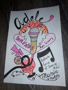 Ik vind Adele geweldig daarom heb ik een handlettering gemaakt voor haar . Ik hoop dat ze hem leuk vind haha  Groetjes An Creatief